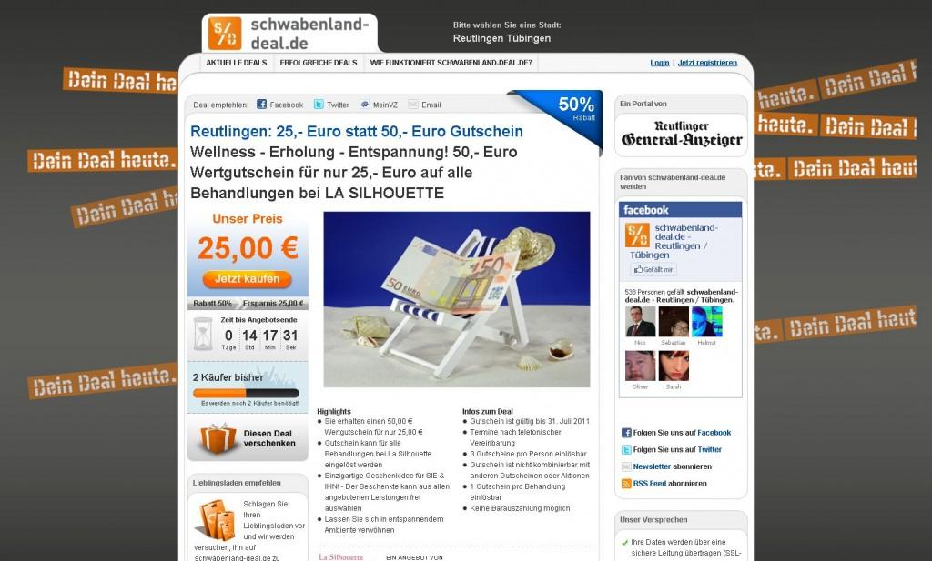 Groupon-Klon vom Reutlinger General Anzeiger